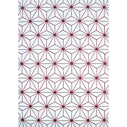Alfombra de vinilo impresa teplon® mandala rojo 120x180