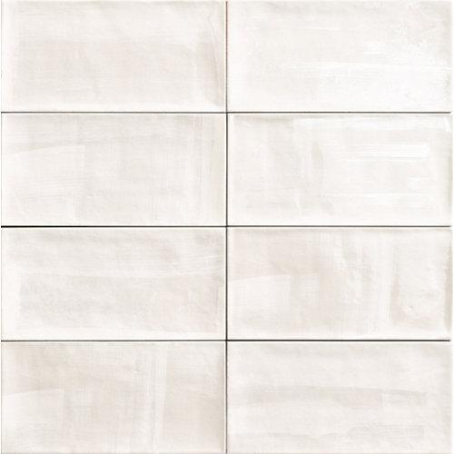Ceramica cocina o baño/aquarel white/mainzu/blanco 15x30