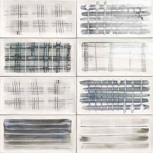 Ceramica cocina o baño/ deco aquarel grey/mainzu/gris 15x30