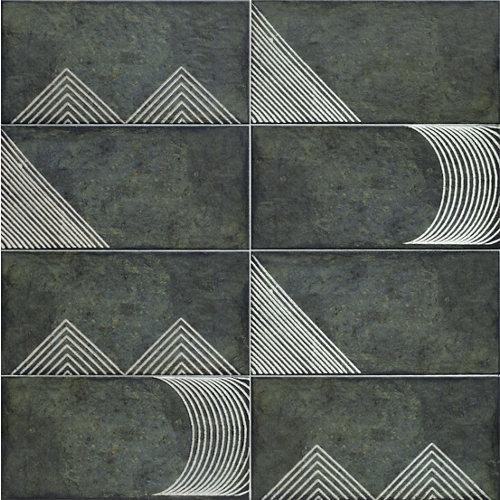 Decorado ceramico/alpe black/mainzu/negro/15x30