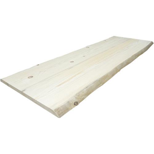 Tablero macizo de abeto 80/90x200x4,5cm tarugo 2 lados bruto