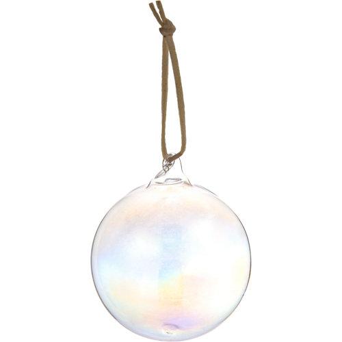 Bola de navidad colgante blanco ø 7 cm