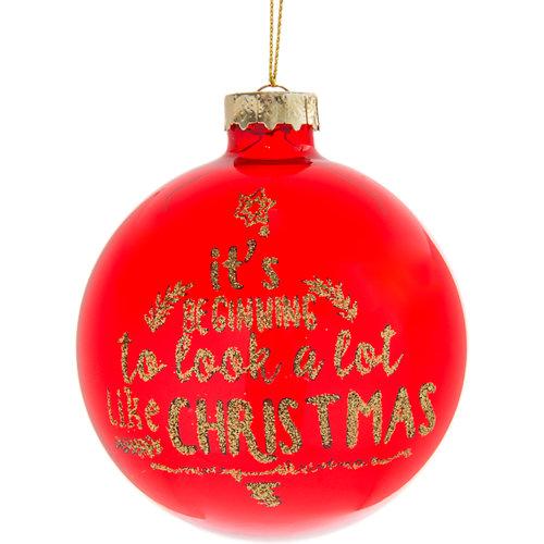 Bola de navidad colgante rojo ø 8 cm