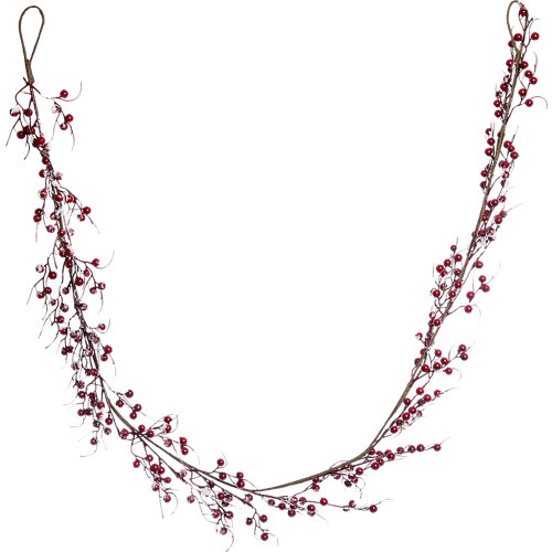 Guirnalda navideña uvas nevadas ø13cm x 180 cm