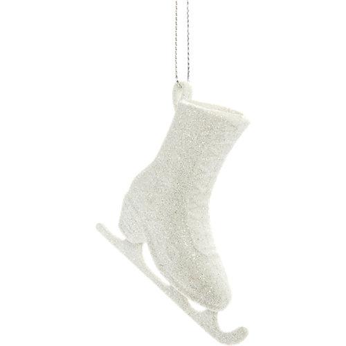 Set de 2 adornos colgantes de patines blanco 7,5 cm