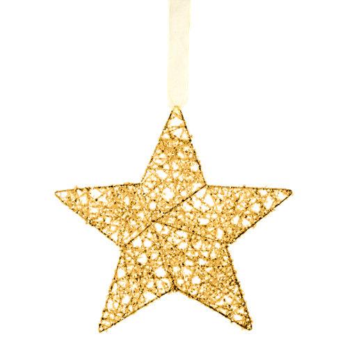 Adorno colgante estrella oro 15 cm