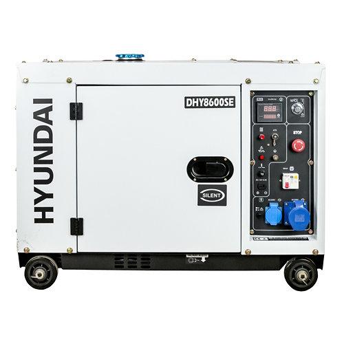 Generador diesel monofásico hyundai dhy8600se de 6300w