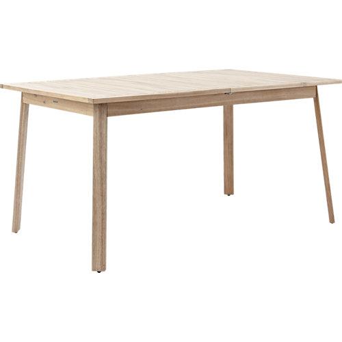Mesa extensible de madera solis marrón de 75x150/200 cm