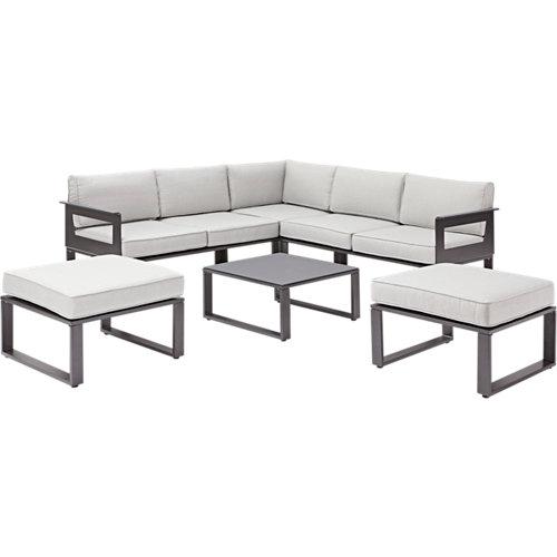 Conjunto de sofás y mesa baja odyssea de aluminio para 4 personas