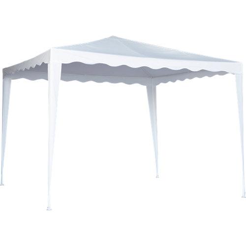 Cenador de acero pico blanco de 295x295 cm