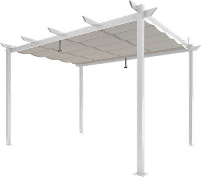 Pérgola de aluminio NATERIAL Omega blanco de 282x400 cm