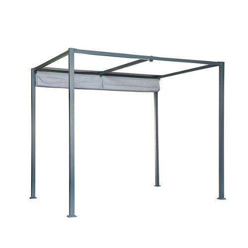 Pérgola de aluminio naterial horali gris 297x297 cm
