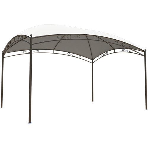 Cenador de acero occo gris de 300x400 cm