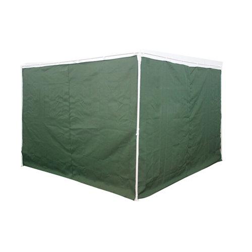 Pack 2 cortinas gazebo naterial pico 300x300 cm verde