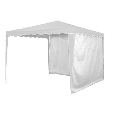 Pack 2 cortinas gazebo naterial pico 300x300 cm blanco