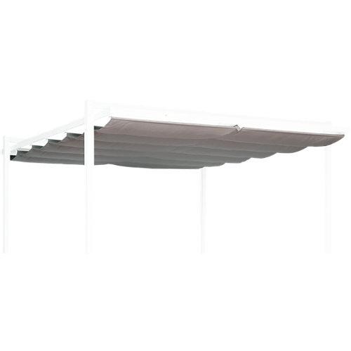 Toldo pérgola de poliéster marrón de 289x285 cm