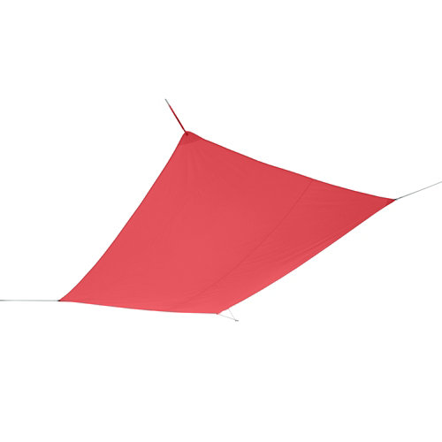 Vela de exterior rectangular naterial hegoa rojo