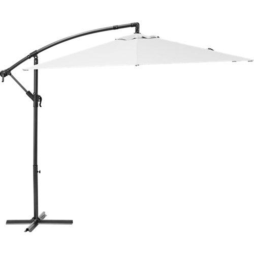 Parasol hexagonal de aluminio / acero polar blanco 290x290 cm