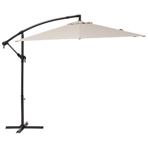 Parasol redondo de aluminio y acero naterial polar marrón ø290 cm