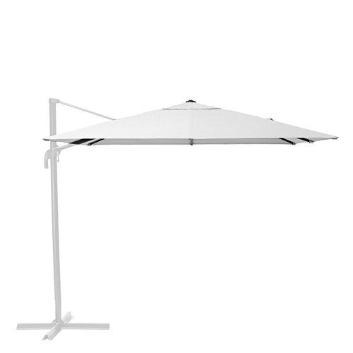 Toldo parasol excéntrico exterior naterial sonora led blanco