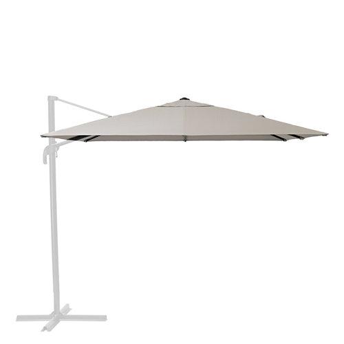 Toldo parasol excéntrico exterior naterial sonora led topo