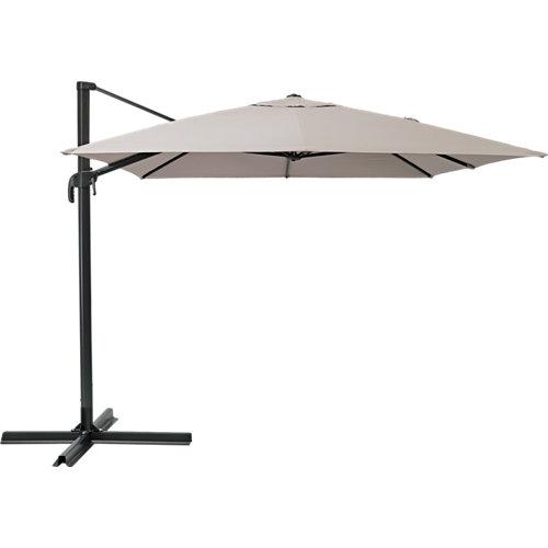 Parasol rectangular de aluminio / acero naterial aura marrón 281x386.5 cm