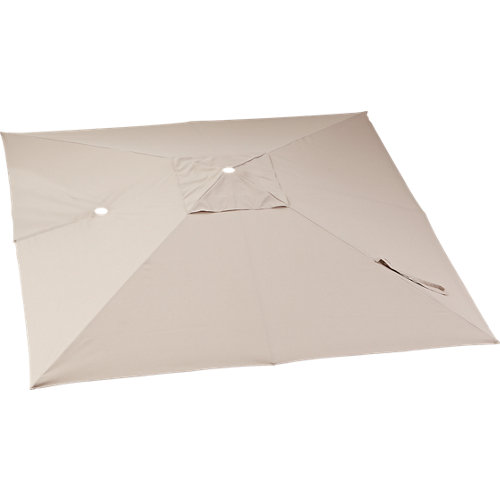 Toldo parasol sonora led tostado 290x290 cm