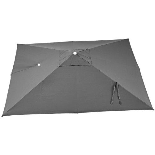 Toldo parasol sonora led antracita 290x290 cm
