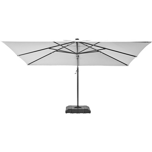 Comprar Parasol excéntrico naterial sonora led crudo 282x391 cm