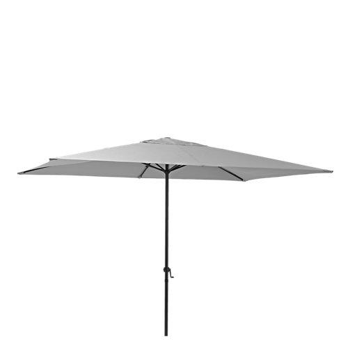 Parasol rectangular de acero naterial polar antracita 194x300 cm