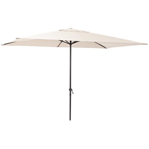 Comprar Parasol rectangular de acero naterial polar marrón 200x300 cm
