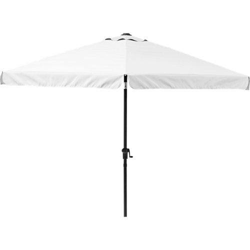 Parasol hexagonal de aluminio y acero naterial avea blanco 296x247 cm