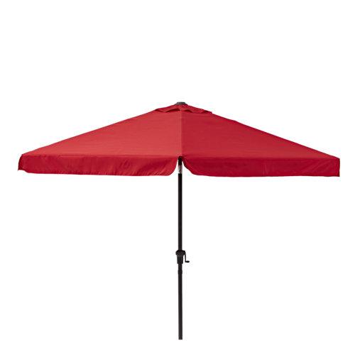 Parasol de aluminio naterial avea rojo d300 cm