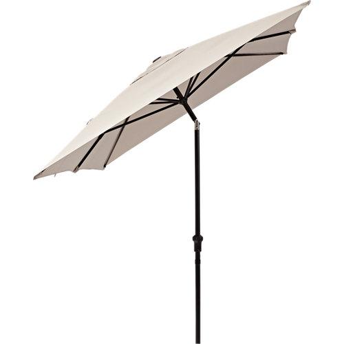 Parasol rectangular de aluminio naterial avea marrón 300x255 cm