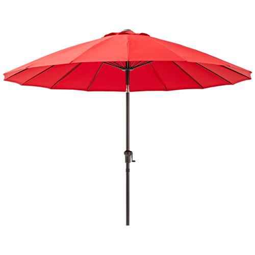 Parasol redondo de aluminio rojo 252x252 cm
