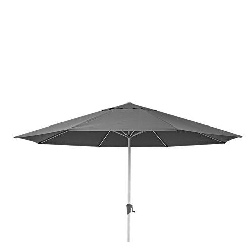 Toldo parasol exterior naterial sonora led antracita 394x394 cm