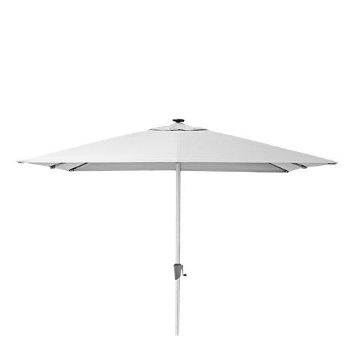 Parasol excéntrico naterial sonora led blanco 285x285 cm