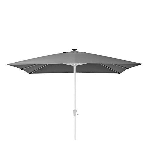 Toldo parasol exterior naterial sonora led antracita