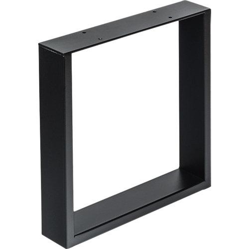 Pata de acero para mesa y pie de polietileno 38x38,2 cm