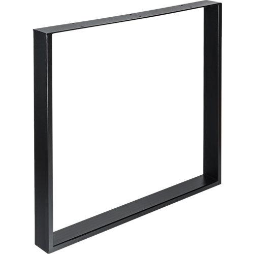 Pata de acero para mesa y pie de polietileno 80x71,2 cm