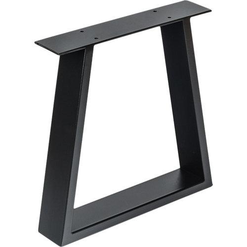 Pata de acero trapecio para mesa y pie de acero 38x38,2 cm