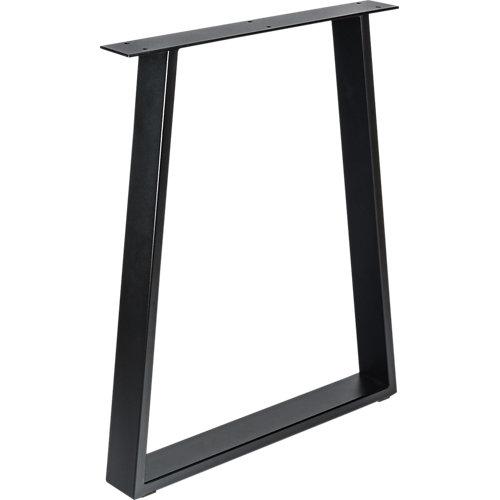 Pata de acero trapecio para mesa y pie de acero 58x71,2 cm