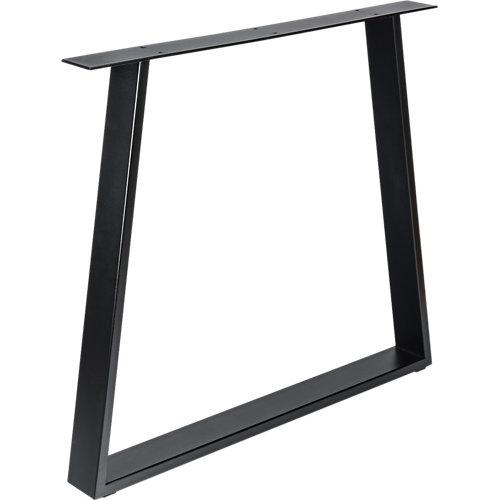 Pata de acero trapecio para mesa y pie de acero 78x71,2 cm