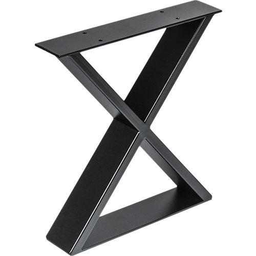 Pata de acero aspa para mesa y pie de acero 38x38,2 cm