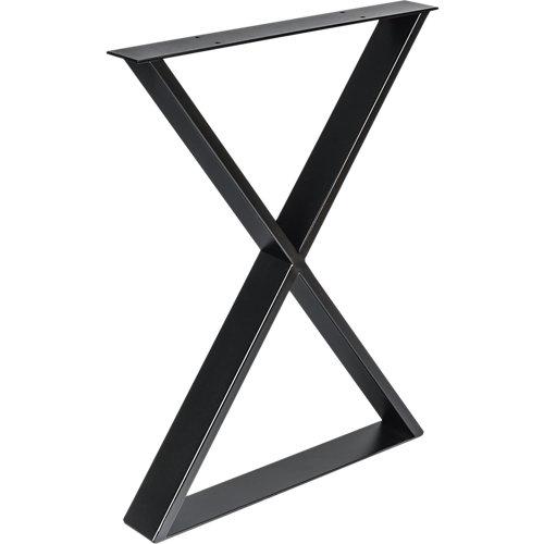 Pata de acero aspa para mesa y pie de acero 58x71,2 cm