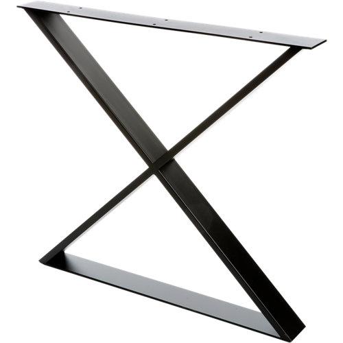 Pata de acero aspa para mesa y pie de acero 80x71,2 cm