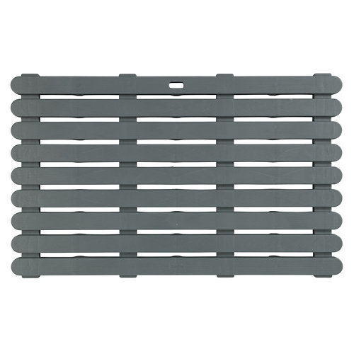 Alfombra baño rejilla indoor/outdoor 80x50 cm gris