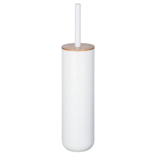 Escobillero cerrado posa wenko blanco plástico/bambú