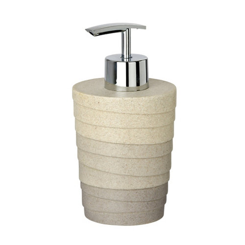 Dispensador de jabón cuzco gris / plata