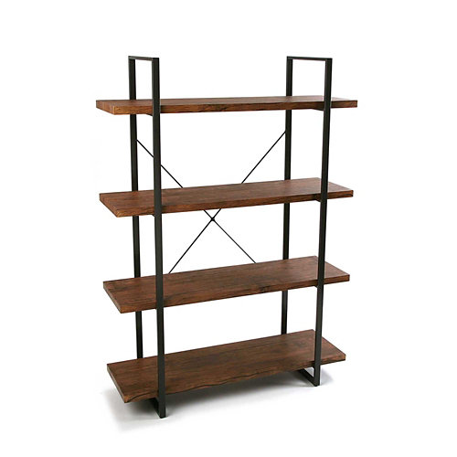 Kit estantería de 100x141,5x33 cm y carga max, 16 kg por balda